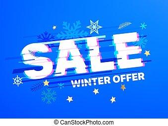 Sale banner. Winter offer concept