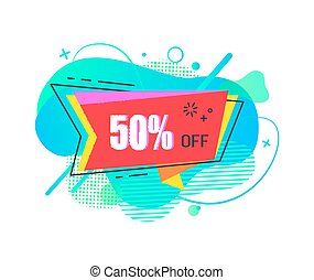 Sale Banner with 50 Percent Price Reduction Vector