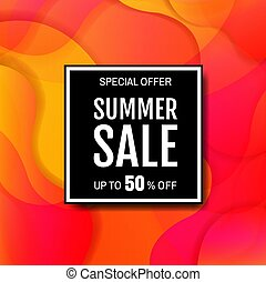 Sale Banner With Colorful Bright Background