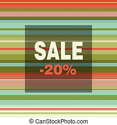 Sale banner with colorful stripes