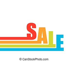Sale Banner with Place for Your Text. Vector Illustration