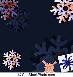 Sale Banner With Snowflake