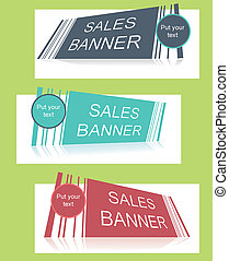 Sale banner with text field