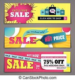 Sale banners design set