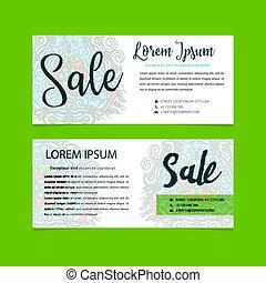 Sale banners design vector business voucher shopping - Sale...