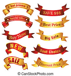 Sale Banners - Sale and clearance ribbon collection. Visit...