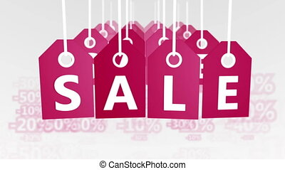 """""""Sale Banners. """" - """"Animation of red sale Banners or tags...."""