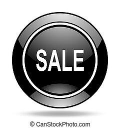 sale black glossy icon