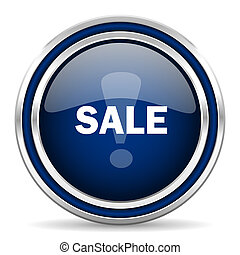 sale blue glossy web icon