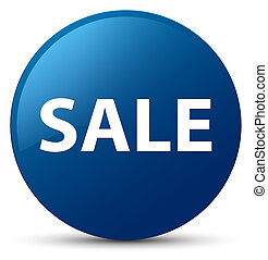 Sale blue round button