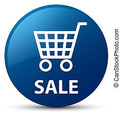 Sale blue round button