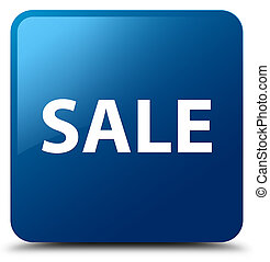 Sale blue square button