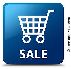 Sale blue square button