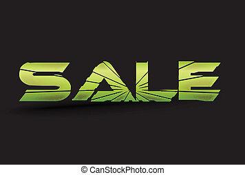 sale breaking text