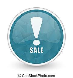 Sale brillant crystal design round blue web icon.