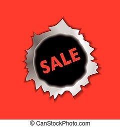 Sale bullet hole