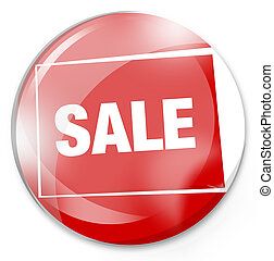 sale button glass red