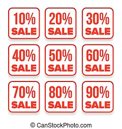 Sale button set red