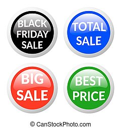 sale buttons glass