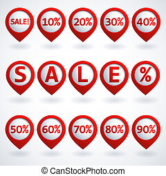Sale buttons set