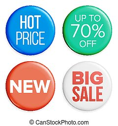 Sale Buttons Set Vector. Super Sale And Special Offer. Product Advertising Isolated Illustration