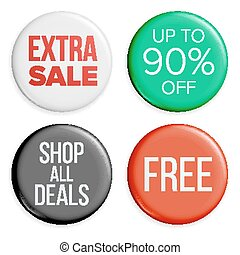 Sale Buttons Vector. Sale Bag Tag Icons. Shopping Labels. Product Promotion Isolated Illustration