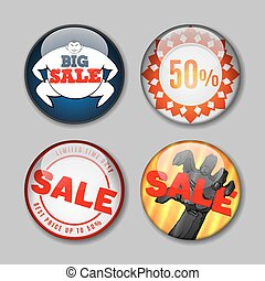 Sale Buttons with discount