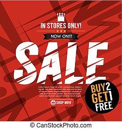 Sale Campaign Buy 2 Get 1 Free Background Banner Vector Illustration