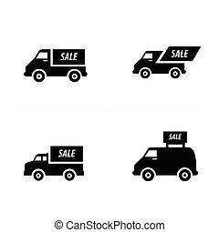 Sale Car icons set
