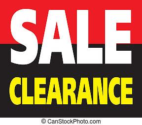 Sale Clearance Promotion Label