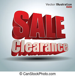 Sale clearance - vector business concepts / element object /...