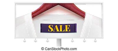 sale., collar., ou, disposition, hanger., escompte, bois, marchés, créatif, sales., action, étiquette, promotion, gabarit, grand, panneau affichage, magasins, vêtements, robe, horizontal, publicité
