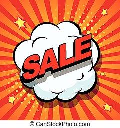 Sale. Comic book explosion.