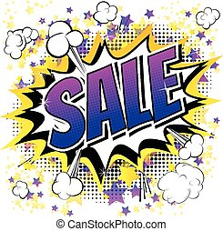 Sale - Comic book style word.