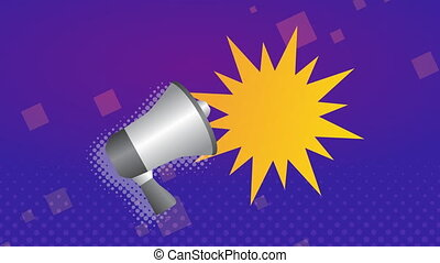 sale commercial label with megaphone