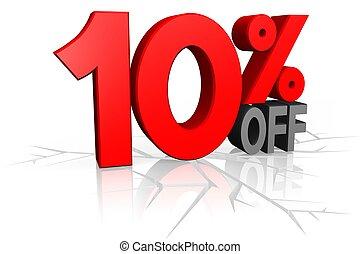 Sale concept, 10% off