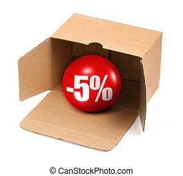 sale concept - 5 percent