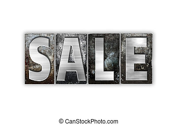 Sale Concept Isolated Metal Letterpress Type