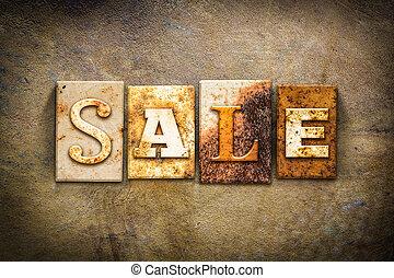 Sale Concept Letterpress Leather Theme