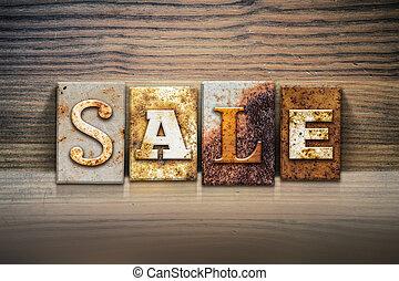 Sale Concept Letterpress Theme