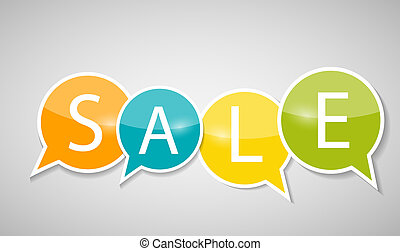 Sale Concept of Discount. Vector Illustration.