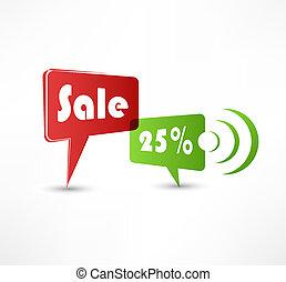 Sale concept speech bubbles
