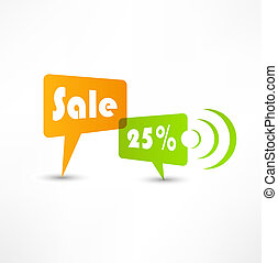 Sale concept speech bubbles