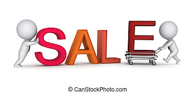 SALE concept.Isolated on white background.3d rendered...