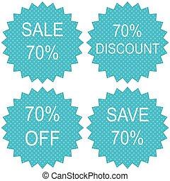 Sale coupon 70 percents.
