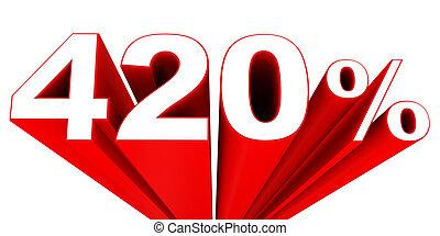 sale., desconto, cento, desligado, 420