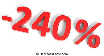 sale., descuento, porcentaje, 240, de