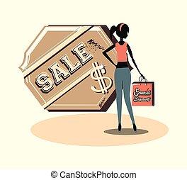 Sale design concept
