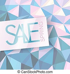 Sale design template. Abstract triangle pink background