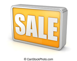 SALE discount 3d icon on white background
